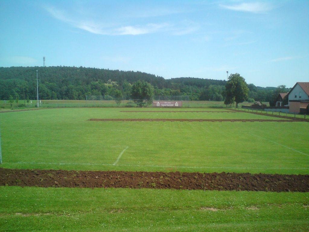 Die Abmessungen Eines Sportrasens Und Fussballplatzes